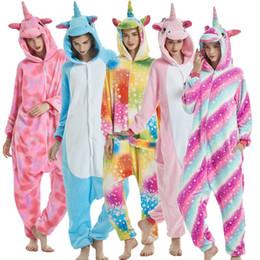 Christmas Pyjamas Women Australia - New Women Men Flannel Animal Pajamas  Set Winter Cartoon Pegasus Pikachu 97be95b20