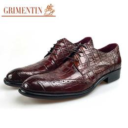 $enCountryForm.capitalKeyWord Australia - GRIMENTIN Hot sale brand mens shoes Italian fashion oxford shoes genuine leather crocodile grain lace up business formal wedding male shoes