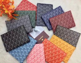 Passport Document Holders Australia - GO home leather high quality cowhide passport holder passport bag portable multi-function document package Card Holders