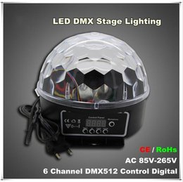 dmx512 led crystal ball Canada - New Arrivals 6 Channel Dmx512 Control Digital Led Rgb Crystal Magic Ball Effect Light Dmx Disco Dj Stage Lighting