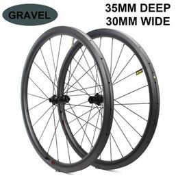 $enCountryForm.capitalKeyWord Australia - 700c Disc Brake Bike Carbon Wheel 32*35mm Tubeless Ready Carbon Rim Optional 6 Types Of Hub And Pillar 1423 Spoke 3k 6k 12k UD