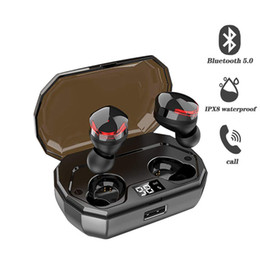 $enCountryForm.capitalKeyWord UK - Touch Control TWS Bluetooth Headset Waterproof Wireless Earphone HiFi Music Sport Earbuds with LCD Screen Charging Case 2000mAh