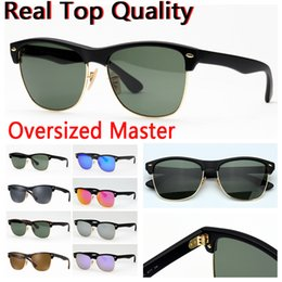 Models Glasses Australia - desinger sunglasses oversized master model real glass lenses des lunettes de soleil free leather case, package, accessories, box,everything!