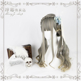 lolita wave wig NZ - Details about Harajuku Kawaii Sweet Daily Princess Dolly Women's Mixed Gradient Wig Lolita New