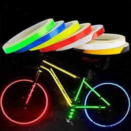 $enCountryForm.capitalKeyWord Australia - Waterproof Bike Reflective Stickers Motorcycle Bicycle Reflector Cycling Security Wheel Rim Decal Tape Fluorescent 1cm*8m