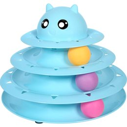 $enCountryForm.capitalKeyWord Australia - Cat Toy Roller Cat Toys 3 Level Towers Tracks Roller with Three Colorful Ball Interactive Kitten Fun Mental Physical Exercise Puzzle Toys