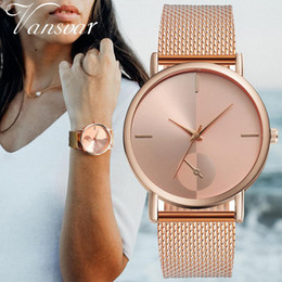 Wrist Watches For Women Australia - Casual Quartz Plastic Leather Band Starry Sky Analog Wrist Watch For Women