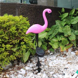 $enCountryForm.capitalKeyWord Australia - Solar Powered Flamingo Lawn Lamp Garden Decor Solar Lights Waterproof Led Light For Outdoor Garden Decorative Stake Lighting