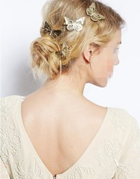 $enCountryForm.capitalKeyWord Australia - Lady 2019's new gold butterfly hair accessories, hair clips, butterfly clips for women,wedding and social gathering