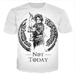 fa3ae3ebe 2019 Hot Sales Big Yards T-Shirt Women Men Arya Stark 3D Sublimation Print  T-Shirt Summer Clothes T-Shirt DRW0111