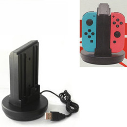 Chinese  4in1 Joy-Con LED Indicater Charging Stand Dock Charger Station for Nintendo Nintend Switch NS Joy-Con Controller Holder Support manufacturers
