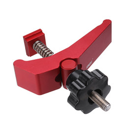 slot track Australia - Aluminum Alloy Quick Acting Hold Down Clamp T-Slot T-Track Clamp Set Woodworking Tool