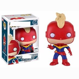$enCountryForm.capitalKeyWord NZ - New Style Funko POP Captain Marvel Collectible toys Black widow Action Figure Avengers Alliance4 Big Eye Doll PVC Toy for kids gift C23