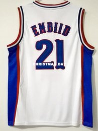 186debf0082 Cheap wholesale Joel Embiid Jersey 21 Kansas Jayhawks College Sewn Jersey  Customize any name number MEN WOMEN YOUTH basketball jersey