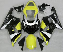 Motorcycle Fairing Kits Abs Plastic NZ - 3Gifts New ABS Plastic Motorcycles Fairings Kit Fit For Suzuki GSXR600 GSXR750 GSX-R600 R750 01 02 03 K1 2001 2002 2003 custom yellow black