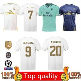 Großhandel Neue 19 20 real madrid scherzt Manndesignert-shirts Fußball Jersey Fußball-Hemden 2019 2020 Asensio BALE ISCO Unterhemd-Kleid