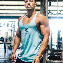 Beach Vests Men Australia - ALPHALETE 2019 New Beach Fashion Gyms Tank Top Men Cotton Sleeveless Hawaiian Summer Singlets Undershirt Fitness Vest Male Tops 4 Colors