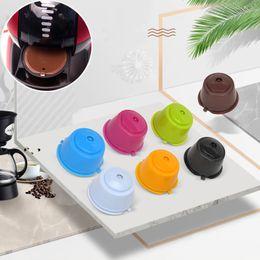 Großhandel 6 Farbe Kaffee-Kapsel-Schale Kaffeefiltertasse Küche Kaffee Werkzeug Food Grade Silikon Cup 304 Edelstahl Filter XD23540