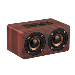 mini caixa som usb UK - Wooden Wireless Bluetooth Speaker Portable HiFi Shock Bass Altavoz TF caixa de som Soundbar for iPhone Sumsung Xiaomi