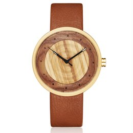 Men Women Couple Watches Australia - Women Men Bamboo Wood Watch Man Ladies Wooden Wrist Watches Leather Retro Couple Casual Clock reloj de madera Relogio Masculino