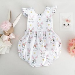 a31390879948 easter day bunny full print bodysuit bodysuits little girls clothing Newborn  Floral Full Print Baby Boy Girl Clothes Jumpsuit Romper