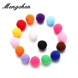 $enCountryForm.capitalKeyWord NZ - 10PCS Colorful Cotton Ball Harmony Ball 8mm 16mm Baby Chime Mexican Bola fit Locket Cage Pendant Pregnant Jewelry