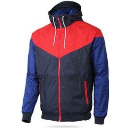 Slim Black Men Models NZ - Men Spring Windrunner Jacket Thin Jacket Coat Men Sports Windbreaker Jacket Explosion Black Models Couple Mens Patchwork Clothing