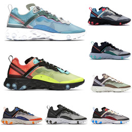 $enCountryForm.capitalKeyWord Australia - 2019 New React Element 87 Fashion Luxury Men Women Designer Running Shoes Undercover Blue Glow Olive Ladies Trainers Tennis Sports Shoes