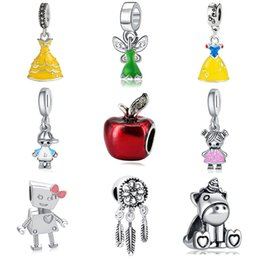 $enCountryForm.capitalKeyWord Australia - The Review Of Silver Charm Account The Beautiful Princess Cinderella Wears A Female Bracelet For Pandora From A Cartoon Mouse Deay Pendant