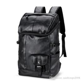 $enCountryForm.capitalKeyWord Australia - wholesale brand mens bags fashionable large capacity leather backpack British retro leisure men backpack outdoor travel leather backpack
