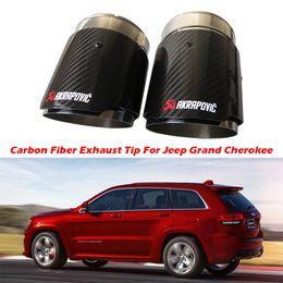 $enCountryForm.capitalKeyWord Australia - 2PCS Carbon Fiber Exhaust Tip For Jeep Grand Cherokee Carbon Fiber Akrapovic Muffler Tips Car Exhaust Pipes