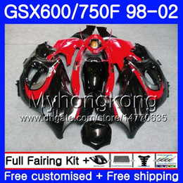 Red Katana Australia - Body For SUZUKI GSXF 750 600 glossy red black GSXF750 1998 1999 2000 2001 2002 292HM.44 GSX 600F 750F KATANA GSXF600 98 99 00 01 02 Fairing