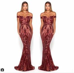 Taffeta Wrap Jacket UK - Scarlett Mermaid Prom Pagenat Dresses 2019 Sexy off shoulder Full length burgundy emerald hunter Yousef Aljasmi Occasion Evening Gown