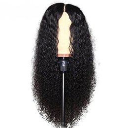 Banks Hair UK - Slayedwig 150% Density water Wave Curly Brazilian Hair Full Lace Virgin Human Hair Wigs For Women With Baby Hair Pre-Plucked Lace Wigs