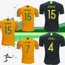 f2a29ff13 Australia Soccer Jersey Home Yellow Away Green 2018-2019 JEDINAK LECKIE  MILLIGAN CAHILL Football Shirts