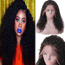 Yaki curlY wig online shopping - 10A Lace Front Wigs and Lace Human Hair Wigs Kinky Curly Deep Loose Wave Yaki Straight Body Wave Straight Bleached Knots Lace Front Wigs