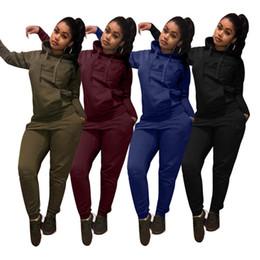 army yoga pants 2019 - Brand Designer Women hoodie 2 Piece Set Outfits Pullover Leggings Tracksuit sweatshirt Pants jogging suit sportswear swe