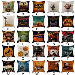 car seat cushions purple 2019 - Halloween Pumpkin Throw Pillow Cover Pillowcases Decorative Sofa Cushion Cover Sofa Seat Case Car Bed discount car seat