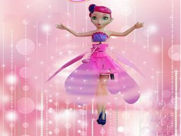 Fairy Princess Toys Australia - Induction aircraft little fairy princess lighting suspension flying somatosensory boys and girls children's toys gifts 2 color