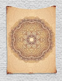$enCountryForm.capitalKeyWord UK - Mandala Tapestry Authentic Mystical Meditative Inner Sign Henna Motif with Repeating Lines Wall Hanging for Living Room Dorm