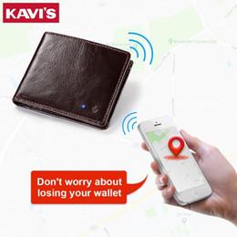 $enCountryForm.capitalKeyWord Australia - Kavis New Technology Smart Men Wallet Rfid Genuine Leather Anti Lost Intelligent Bluetooth Wallets Suit For Ios, Android Male MX190720
