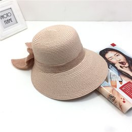 167d817d 2019 summer women's straw hat or sun hat has a broad brim brim and a  folding outdoor beach Panama hat.