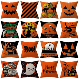 decorative body pillow covers 2021 - Halloween Pumpkin ghost Pillow Case Pillowcase Home Sofa Car Cushion cover Xmas Gifts Home Decorative Without core 45*45