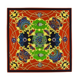 silk r NZ - Newest High quality 100% silk scarf Brand Famous Designer print Pattern Square scarf Womens Scarves for Gift size 130x130cm R-3445