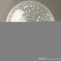 12 inch clear balloon Canada - httoy 50pcs lot 12 inch Round clear star balloons pearl latex helium balloons for birthday wedding party decoration,transparent ballon