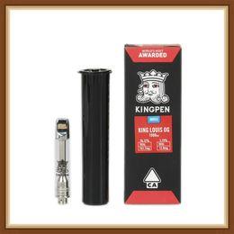Glasses styles online shopping - NEW Kingpen Cartridge Vape Tank Gift Box Package New ml ml Ceramic Coil Pyrex Glass Vape Tank Atomizer new Red Sticker Style