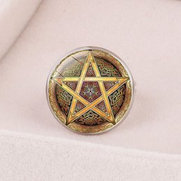 Leather Banded Ring Australia - Style1 new fashion accessories European and American accessories Celtic triangle mysterious symbol time gemstone opening adjustable ring