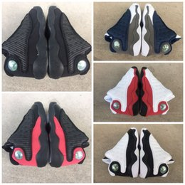Table Cat Box Australia - 2019 Cheap 13s Black Cats Toddler sneakers bred Flint Kids Basketball Shoes Infant 13 big boy & Girl Children Trainers With Box