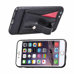 black leather slim wallet NZ - Wallet Case for iPhone 7 8 Slim Protective Case with Credit Card Slot Holder Soft PU Leather Strap Cover for iphone xs max xr 8 plus 7plus