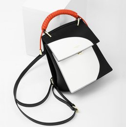 $enCountryForm.capitalKeyWord Australia - High-end Women Contrast Color Clutch Twist Knot Shoulder Handbag Mini Wallet Unique Design Backpack Messenger Satchel